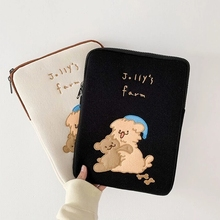 Fashion girls women cute bear mac ipad sleeve case bag suit ipad pro 9.7 10.5 11 13 15 inch tablet Inner protection bag