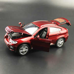 Image 5 - حار سبيكة دييكاست نموذج سيارة 1:32 BMW SUV X6 وامض الصوت الطفل سيارة معدنية اللعب التراجع عجلات الاطفال هدايا عيد الميلاد