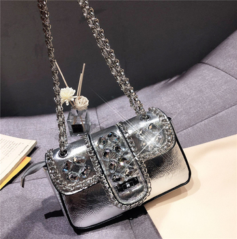Women Soulder Bags Fashion Wedding Women Clutch Black Bags 2019 New Chain Luxury Crossbody Bags Bridal Ladies Party Handbags