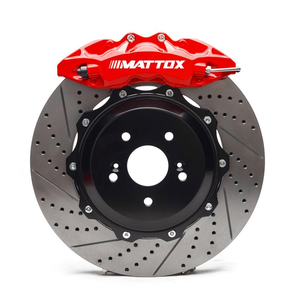 Mattox Car Brake Kit Set 6POT Calipers Drilled Slotted Disc 355*32mm Brake System Front Brake for Chrysler 300C 2007 Rim 18inch