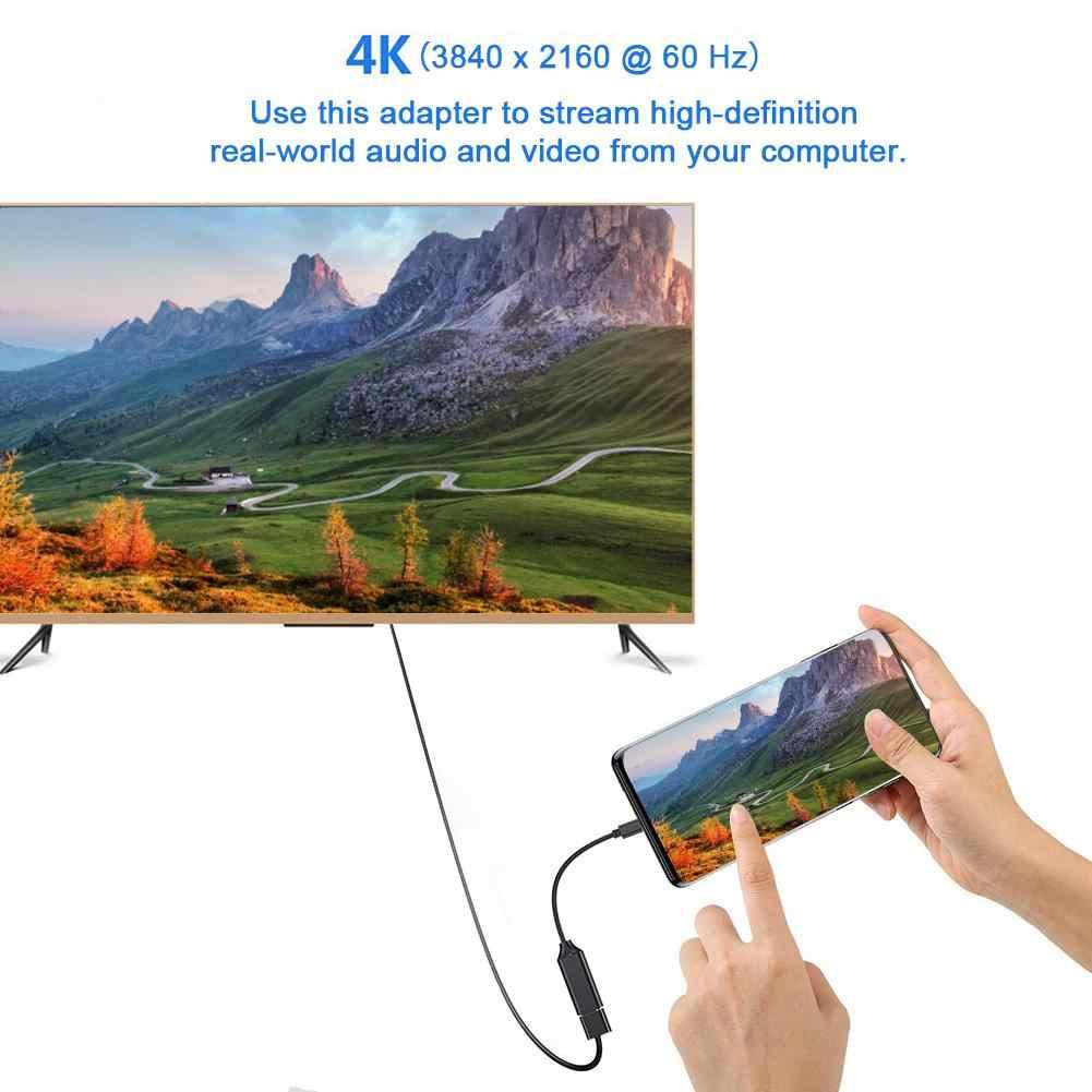 Rodzaj USB C na kabel adapter hdmi 4k 30hz USB 3.1 na adapter hdmi konwerter męski na żeński na komputer stancjonarny telewizor wyświetlacz telefon