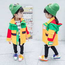 Baby Girl Patchwork Tooling Clothes Colorful Sport Anorak Casual Jacket Kids Windbreaker Coat Girls Autumn Zipper Outwear(China)