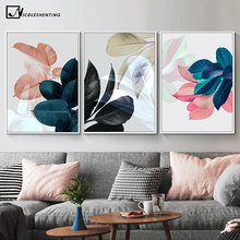 Scandinavian Botanical Print Leaf Wall Poster Nordic Abstract Plant Canvas Painting Contemporary Art Home Decoration Picture