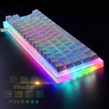 Womier 66 key Custom Mechanical Keyboard Kit 65% 66 PCB CASE how swappable switch support lighting effects with RGB switch led 5