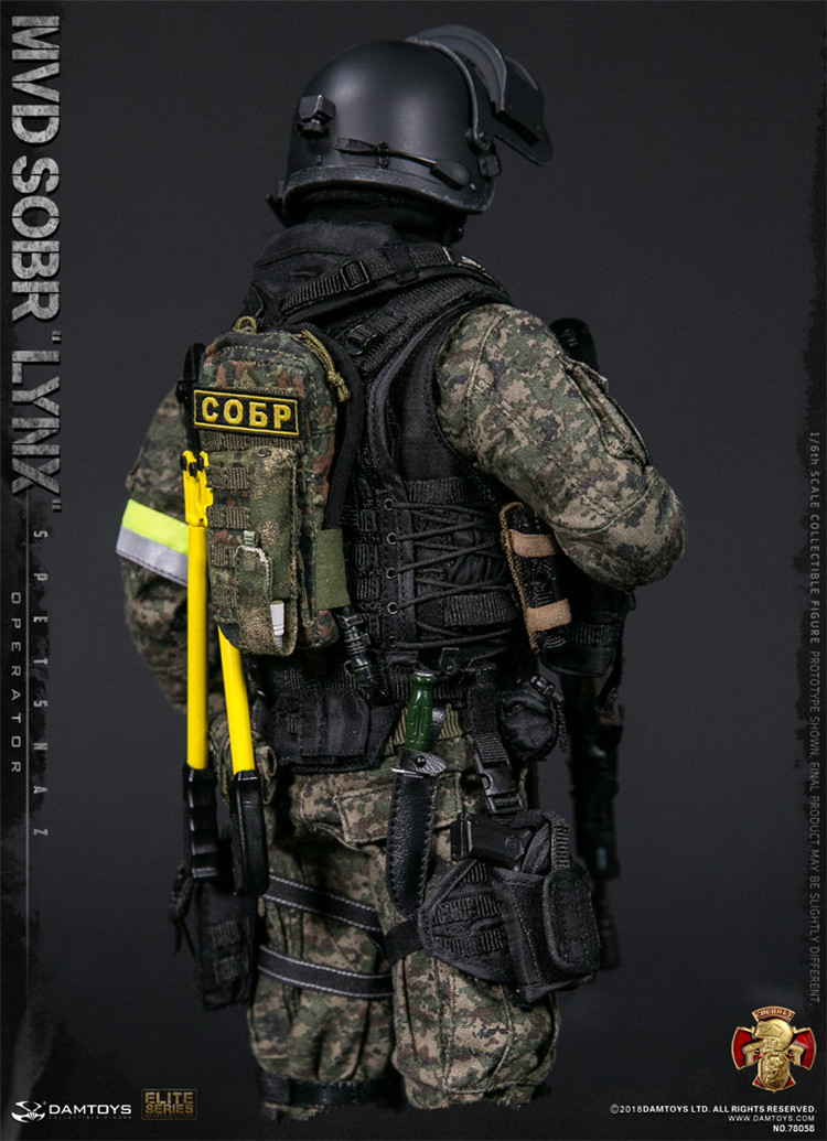DAMTOYS NO.78058 1//6 RUSSIAN SPETSNAZ MVD SOBR LYNX Male Solider Figure