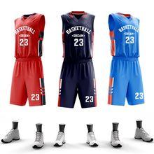 Мужские баскетбольные майки для колледжа, баскетбольная форма на заказ, наборы, Профессиональная баскетбольная форма, быстросохнущая спортивная одежда