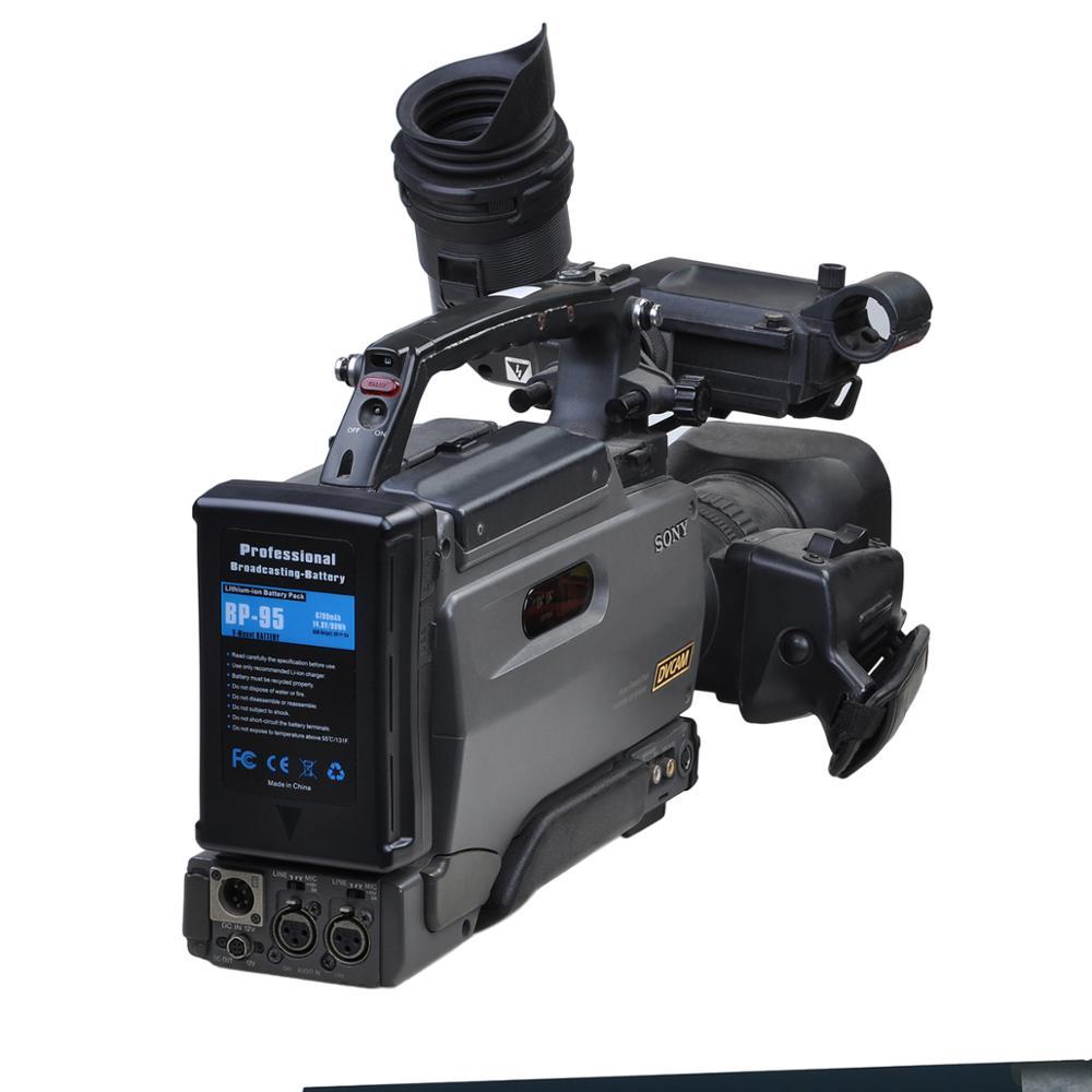14.8v 154Wh V Mount Li-ion batterie Pack V serrure pour LED photographie lumière caméra vidéo caméscope pour Sony caméra BP batterie - 5
