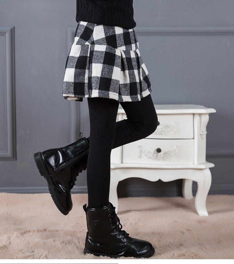 Warm Winter Kids Baby Girls Skirt Pants Thick Leggings Soft Pants Skirt Leggings