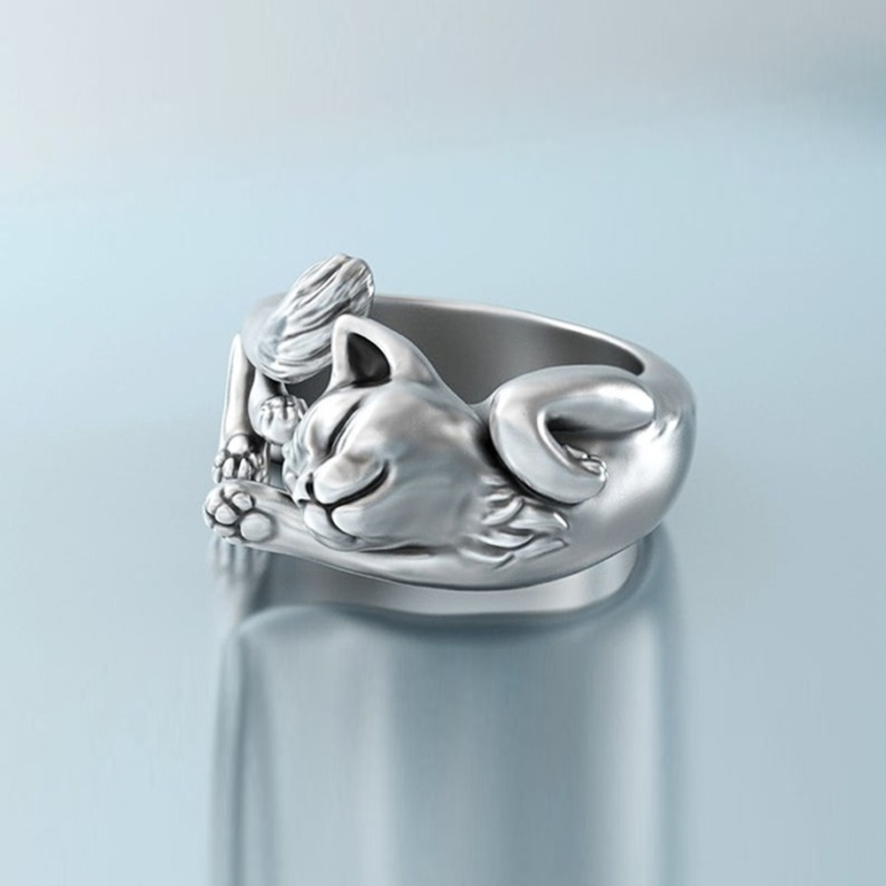Beautiful Adjustable Cat Body Ring