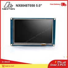 "Nextion NX8048T050   5.0 ""HMI ذكي شاشة تعمل باللمس USART TFT وحدة LCD عن طريق Nextion محرر يستخدم بسيط ASCII"
