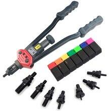 ALLSOME-Pistola remachadora manual BT-607, kit de herramientas de remachado a mano, ajuste de tuerca de remache, cortador de tuercas, 16 pulgadas, M3/M4/M5/M6/M8/M10/M12