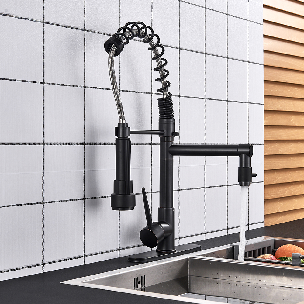 Hcbd77b41d7424c86b001db147ed7cfb5p Uythner Black Brass Kitchen Faucet Vessel Sink Mixer Tap Spring Dual Swivel Spouts Hot and Cold Water Mixer Tap Bathroom Faucets