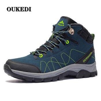 Winter Men Hiking Shoes Outdoor Mens Plush Keep Warm Trekking Mountain Woman Climbing Athletic Sport Sneakers Climbing Boots