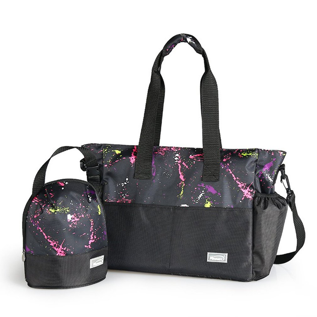 Multifunction Large Capacity Mummy Bag Unique Colorful Printing Portable Pregnant Expectant Mother Bag Outdoor Baby Diaper Bag