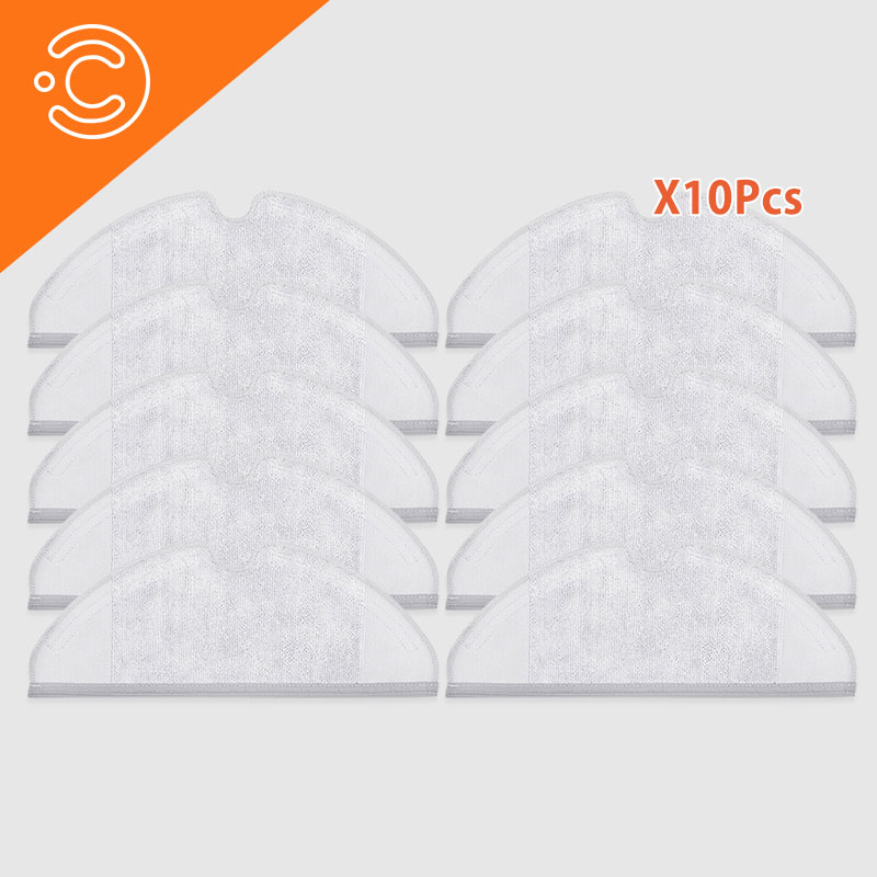 10PCS Robot Vacuum Cleaner Cleaning Cloth Accessories For Xiaomi Mijia 1.2 Roborock S50 S51 S6 Vacuum Cleaner Cleaning Cloth P