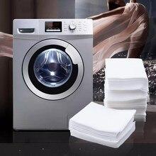 Feuille absorbante de couleur pour Machine à laver, 200 pièces, tissu Anti-colorant, fournitures de nettoyage du linge