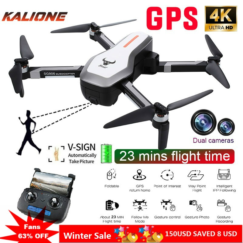 SG906 GPS 4k Drone 4k with Camera RC Quadcopter Professional Camera drone selfie Brushless bag 5G Wifi FPV drone Optical Flow
