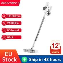 Dreame v10 handheld aspirador de pó sem fio portátil filtro ciclone tapete coletor poeira varrer para casa xiaomi