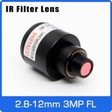 3 мегапиксельный объектив с переменным фокусным расстоянием с инфракрасным фильтром 2,8-12 мм M12 крепление 1/2. 5 дюймов с ручной фокусировкой и масштабируемый бинокль для экшн-камера Sports