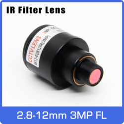 3Megapixel Varifocal Lens With IR Filter 2.8-12mm M12 Mount 1/2.5 inch Manual Focus and Zoom For Action Camera Sports Camera