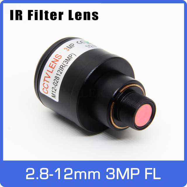 3Megapixel Varifocal Lens With IR Filter 2.8 12mm M12 Mount 1/2.5 inch Manual Focus and Zoom For Action Camera Sports Camera