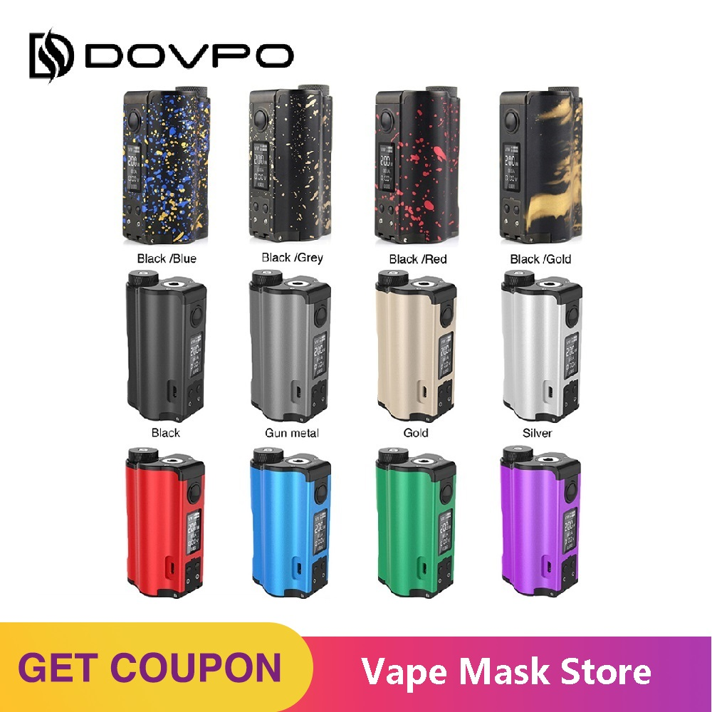100% Original 200W DOVPO Topside Dual Top Fill TC Squonk MOD With 10ml Squonk Bottle E-cig Vape Box Mod VS / Drag 2 / Naboo Mod