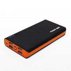 Мощность внешнего аккумулятора с светодиодный фонарик 4 Порты USB 5V 2A Мощность банк Зарядное устройство чехол Сделай Сам Наборы Мощность ed ...