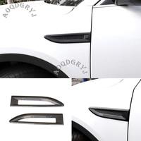 Carbon Texture Fender Side Air Vent Outlet Cover Trim 2pcs for Jaguar E-PACE 2018-2020 Car Styling