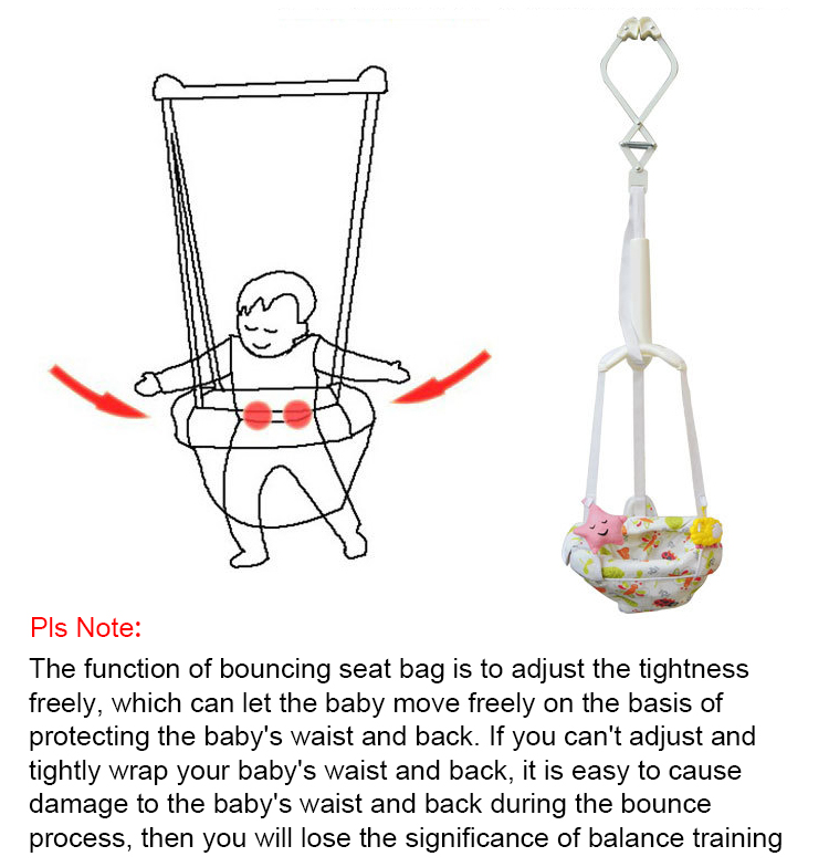 Hcbd82ad97f9446209321ec6e30d86f4cd Baby Doorway Jumper Bouncing Infant Safety Toddler Toys Learning Adjustable Exercise Swing Hanging Seat Walker Indoor Activity