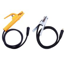 2Pcs/set 500A 2M Electrode Holder Welder Clamp with 300A 1.5M Ground Earth Clamp Cable Connector Welding Accessories