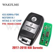Para kia sorento 2017 2018 2019 keyless ir inteligente remoto carro chave fob 433mhz id47 95440 c5600 95440c5600