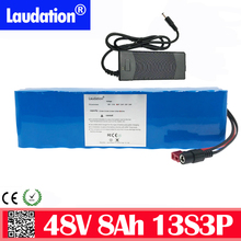 48v li-ion battery pack 8ah 13s3p 18650 rechargeable battery With 2A charger built-in 15A BMS For electric bicycles e bike lauda 24v e bike battery 8ah 500w with 29 4v 2a charger lithium battery built in 30a bms electric bicycle battery 24v free shipping
