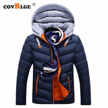 Covrlge 2019 Brand Winter Men Coat Casual Mens Jackets Coats Thick Parka Outerwear Plus Size M-4XL clothing MWM078