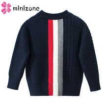kids Casual Sweaters Autumn Winter 2019 Boys and Girls Pullover Knitted Striped Sweater Children Long Sleeve Gray Navy Blue Tops крылов григорий александрович пираты