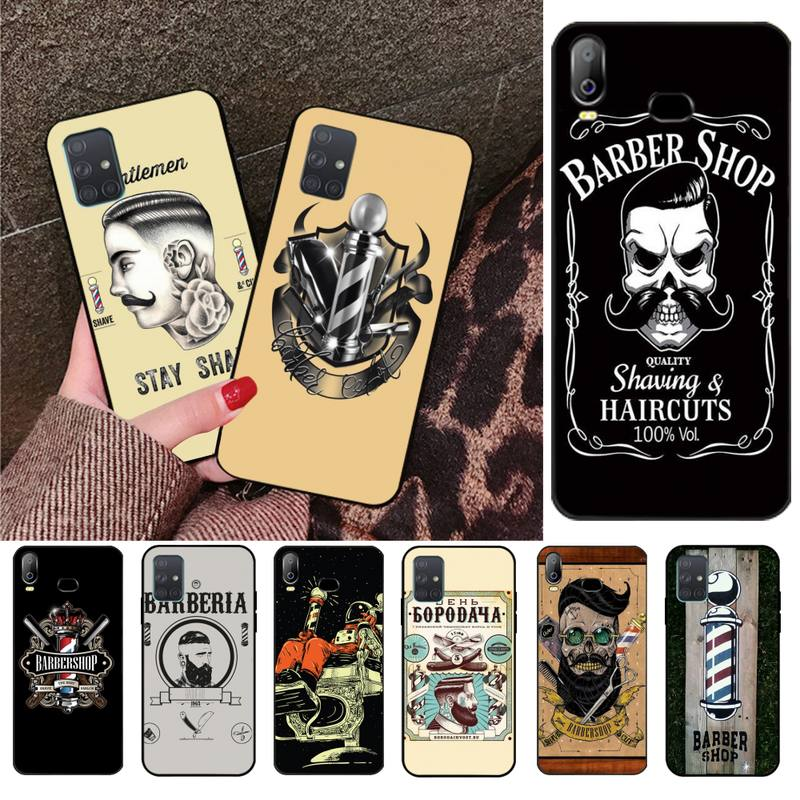 HPCHCJHM <font><b>funny</b></font> letter barber shop Hair DIY Luxury Phone <font><b>Case</b></font> For <font><b>Samsung</b></font> A10 <font><b>A20</b></font> A30 A40 A50 A70 A71 A51 A6 A8 2018 image