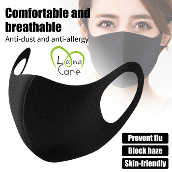 1/3PCS Unisex Black Cotton Mask Reuseable Bicycle Outdoor Sports Cycling Wearing Windproof Warm Face Mouth Half Mask
