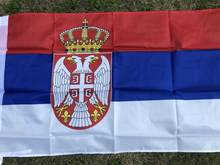 Sérvia poliéster padrão bandeira orgulho paz bandeiras 2x3república da sérvia srb sérvio bannar procissão reunião festa decoração