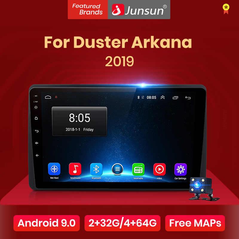 Junsun V1 2G + 32G Android 9.0 DSP Radio Multimedia Video Player Per Renault Duster Arkana 2019 di navigazione GPS 2 din autoradio