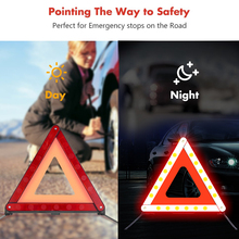 Triangles Breakdown Warning with Case for Vehicles Roadside Foldable