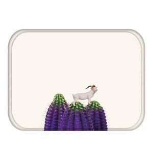 Image 3 - 40*60cm Zarte Blume Muster Rechteckigen Flanell Weichen Teppich Kann Waschen Eingang Boden Küche Boden, bad Nicht slip Matte.