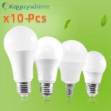 =(K)= 10 Uds. De Bombilla LED E27, E14, 20W, 15W, 12W, 9W, 6W, 3W, CA de 220V, 240V, Bombilla LED E27, lámpara de iluminación