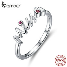 bamoer 925 Sterling Silver Miss U Finger Ring Valentine's Day Gift for Girlfriend Anniversary Bijoux Fashion Bague SCR631(China)