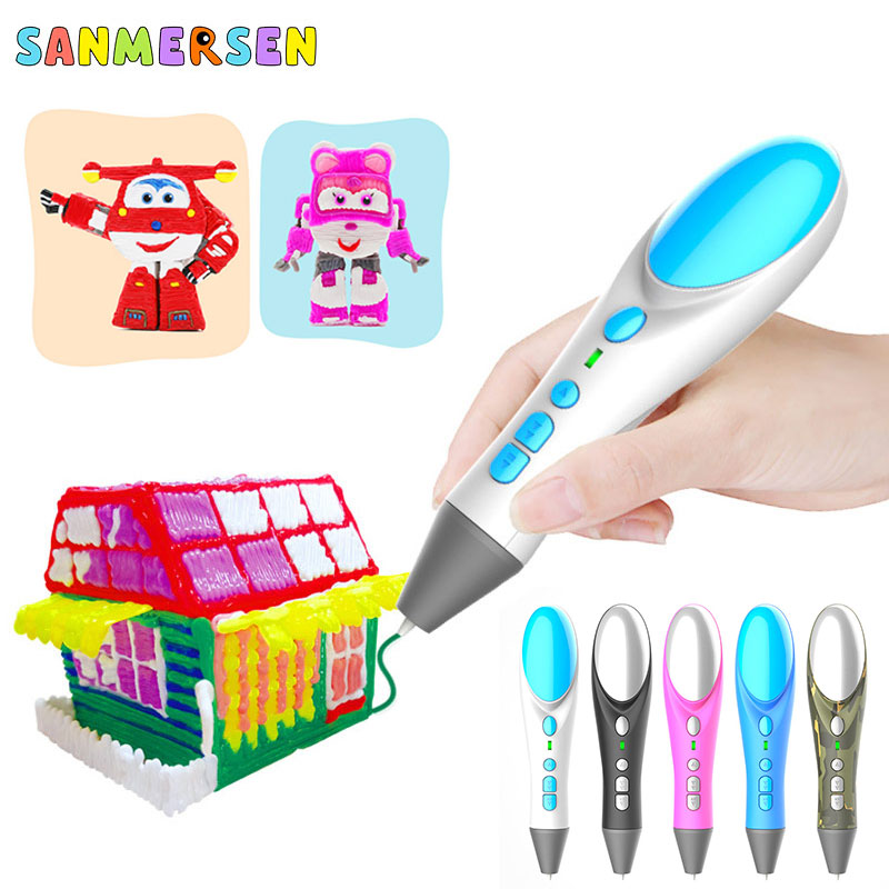 Original 3D Pen Drawing Toys Safety Temperature Kids Educational Toys DIY 3D Printing Pen For Designer Children Painting Gifts