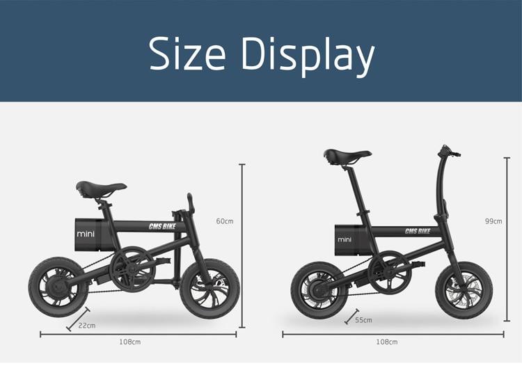 12 inch folding e bike adult mini foldable ebike city folding electric bicycle 2