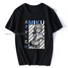 T-Shirt en coton de grande taille pour homme, dessin animé The Quintessential Quintuplets Miku V1 Go touchignon No Hanayome
