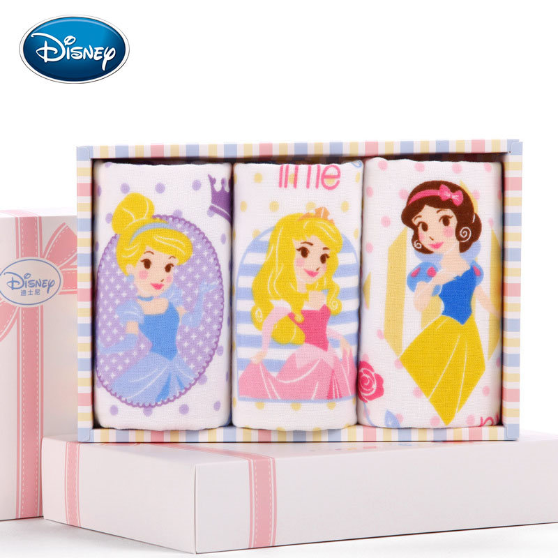 Disney Cartoon Towel Sets 3 Pieces Print Child Face Towel 100% Cotton Soft Children Hand Towel 25*50cm Gift Boxes Dropshipper