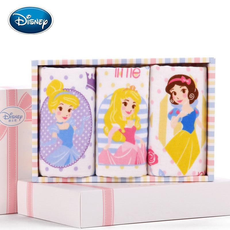 Disney Cartoon Towel Sets 3 Pieces Print Child Face Towel 100% Cotton Soft Children Hand Towel 25*50cm Gift Boxes Dropshipper