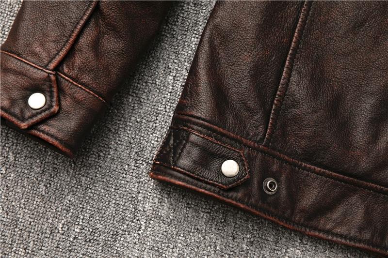 Hcbd93c3f894c4ff28657fadae0df15b3v Classic motor style,vintage genuine leather Jacket,fashion men brown Leather coat,street biker coat,sales