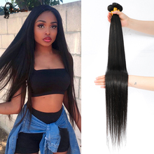 Human-Hair Hair-Extensions Bundles Weave Deals Remy Brazilian Black 40 Yeslestm Straight