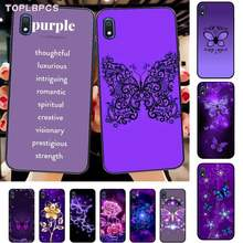 TOPLBPCS Purple beautiful infinite butterfly flower Phone Case for Samsung A10 20s 71 51 10 s 20 30 40 50 70 80 91 A30s 11 31(China)
